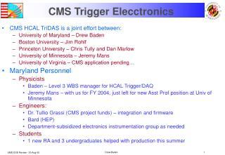 CMS Trigger Elecctronics