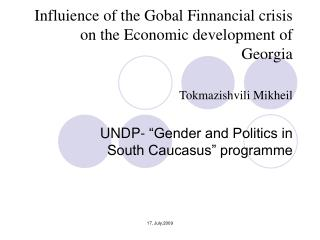 """UNDP- """"Gender and Politics in South Caucasus"""" programme"""