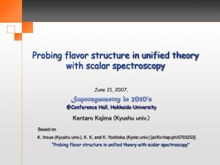 Probing flavor structure in unified theory with scalar spectroscopy