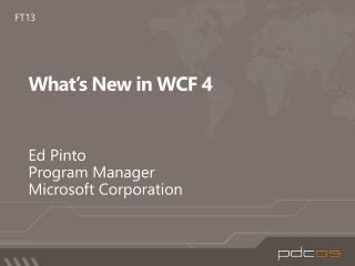 What's New in WCF 4