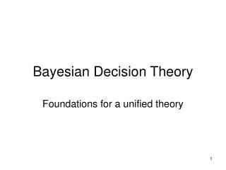 Bayesian Decision Theory
