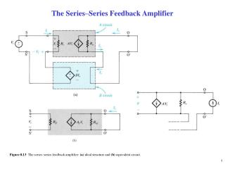 The Series–Series Feedback Amplifier