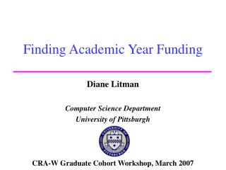 Finding Academic Year Funding