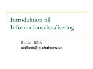 Introduktion till Informationsvisualisering