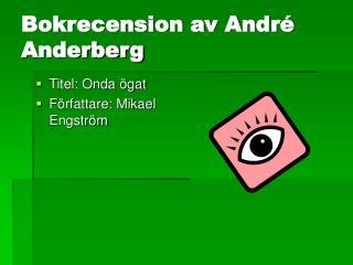 Bokrecension av André Anderberg