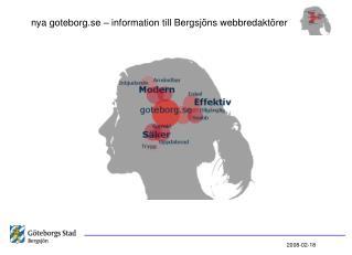 nya goteborg.se – information till Bergsjöns webbredaktörer