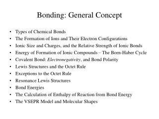 Bonding: General Concept