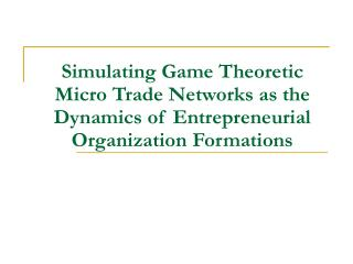 The Need for Entrepreneurial Network Analysis
