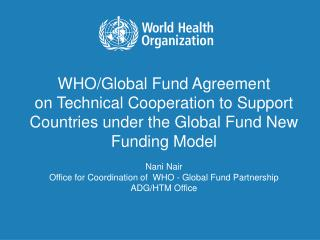 WHO/Global Fund Agreement