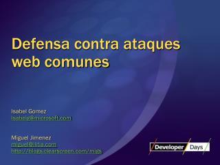Defensa contra ataques web comunes