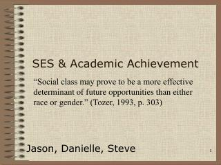 SES & Academic Achievement