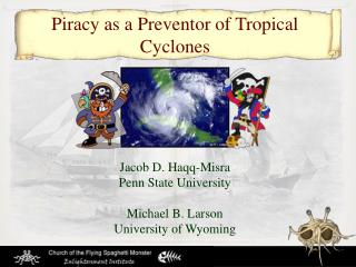 Piracy as a Preventor of Tropical Cyclones