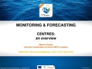 MyOcean2 First Annual Meeting – 17-18 April 2013