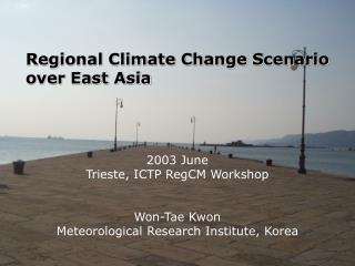 Regional Climate Change Scenario over East Asia