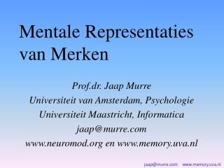 Mentale Representaties van Merken
