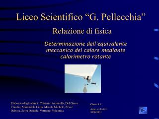 Liceo Scientifico  G. Pellecchia