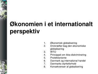 Økonomien i et internationalt perspektiv