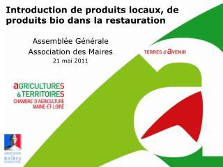 Assemblée Générale  Association des Maires 21 mai 2011