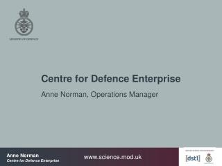 Centre for Defence Enterprise
