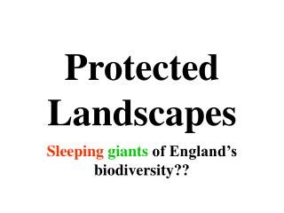 Protected Landscapes