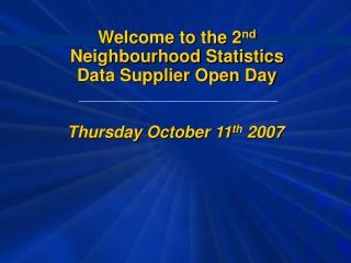 Thursday October 11 th  2007