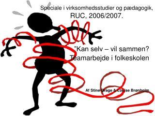 Speciale i virksomhedsstudier og pædagogik,  RUC, 2006/2007.