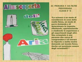 SC- PRIMARIA V. DA FELTRE PEGOGNAGA CLASSE  3° C
