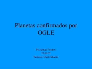 Planetas confirmados por OGLE