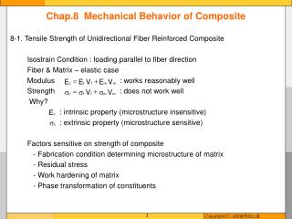 Chap.8  Mechanical Behavior of Composite