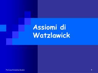 Assiomi di Watzlawick