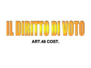 ART.48 COST.