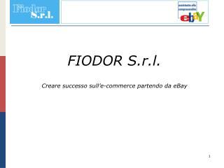 FIODOR S.r.l. Creare successo sull'e-commerce partendo da eBay