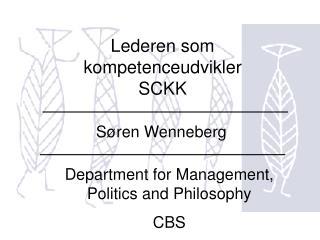 Lederen som kompetenceudvikler SCKK