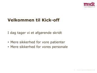 Velkommen til Kick-off
