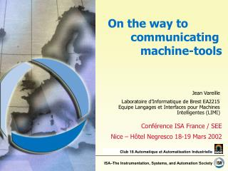 On the way to communicating machine-tools