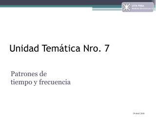 Unidad Tem�tica Nro. 7