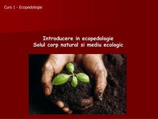 Curs 1  - Ecopedologie