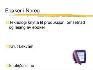 Eb�ker i Noreg