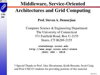 Middleware, Service-Oriented Architectures and Grid Computing