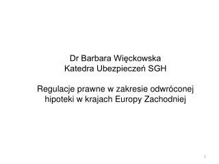 Dr Barbara Więckowska