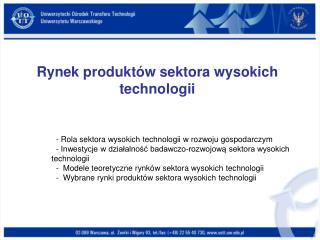 Rynek produktów sektora wysokich technologii