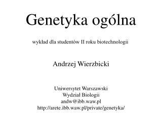 Genetyka og�lna