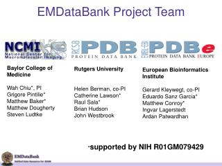 EMDataBank Project Team