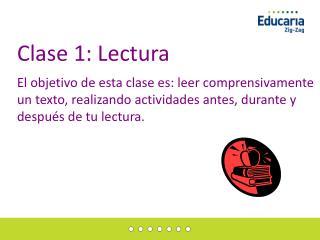 Clase 1: Lectura