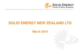SOLID ENERGY NEW ZEALAND LTD March 2010