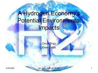 A Hydrogen Economy's Potential Environmental Impacts