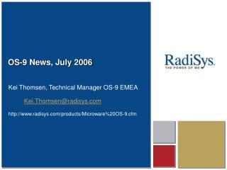 OS-9 News, July 2006