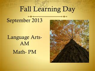 Fall Learning Day