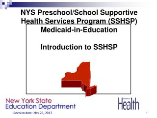 Introduction to SSHSP –  Training Agenda