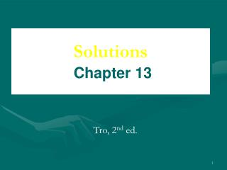 Solutions Chapter 13